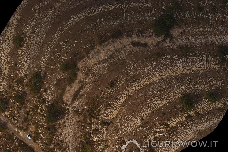 Ortofoto Monte Lago Mucchio di pietre, Golfo Dianese