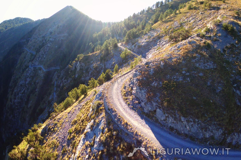 La via militare lungo il Monte Grai