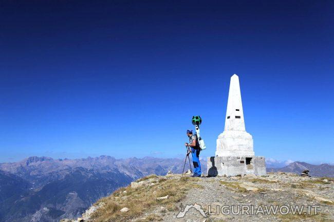 Corrado Agnese sul Monte Saccarello