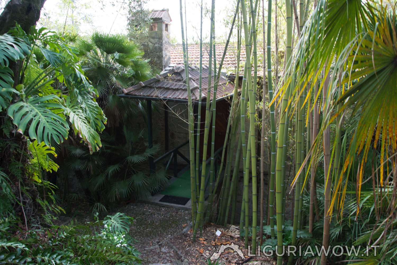 casa rustica nei Giardini Botanici Hanbury