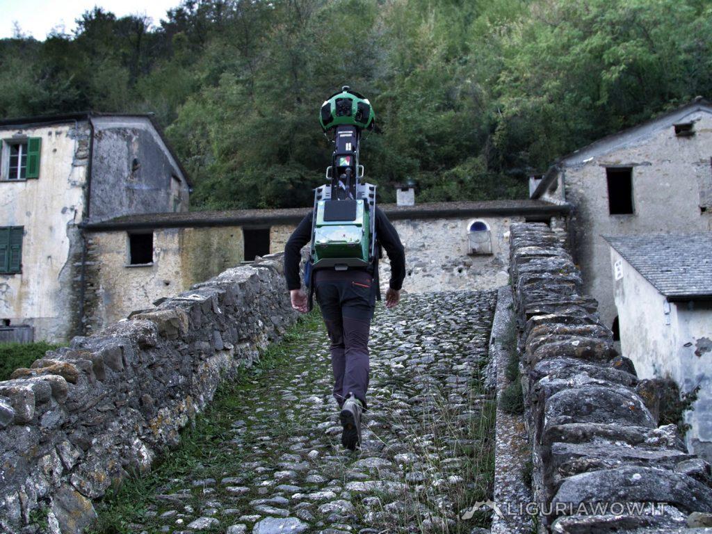 Nicola Ferrarese sul ponte di Santa Filomena