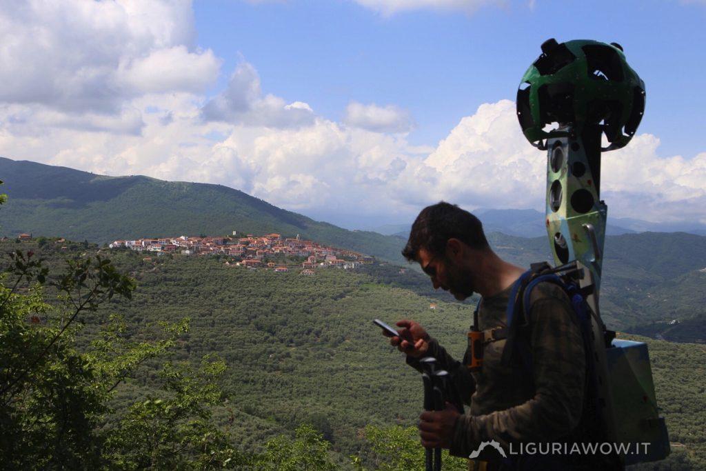 Luca Patelli verso il monte Acquarone