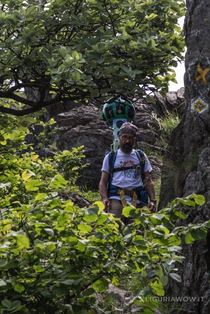 Claudio Cecchi nel Parco del Beigua