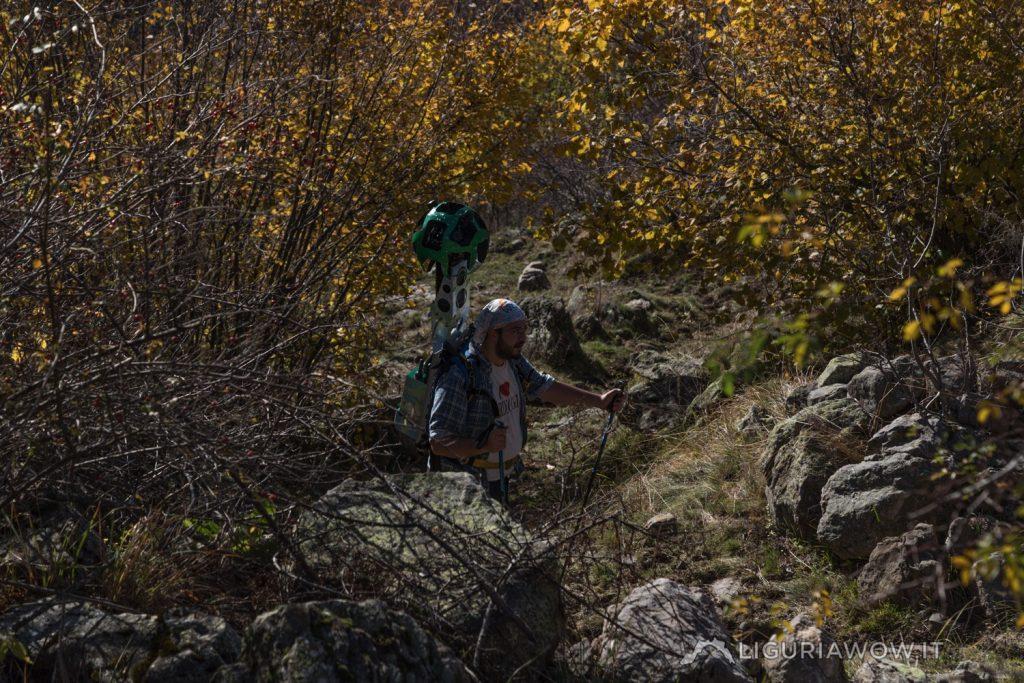 Sentiero tra Verdeggia e Vesignana